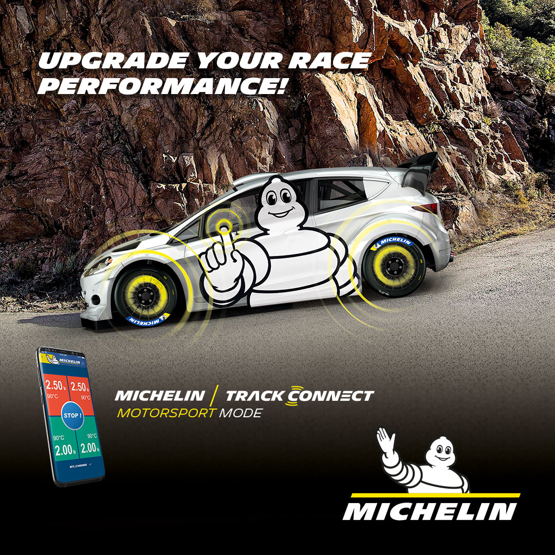 Download the MICHELIN TRACK CONNECT application