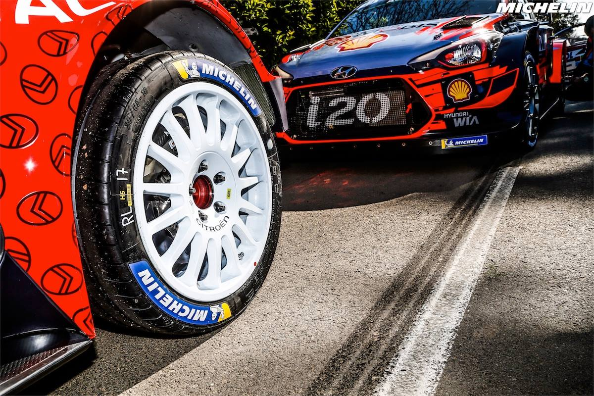 More than 7,500 WRC stage victories* for Michelin rubber!