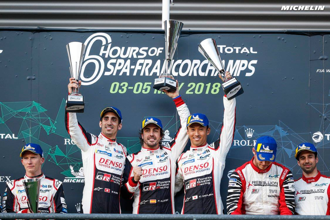 Toyota/Michelin claim 1-2 finish at Spa