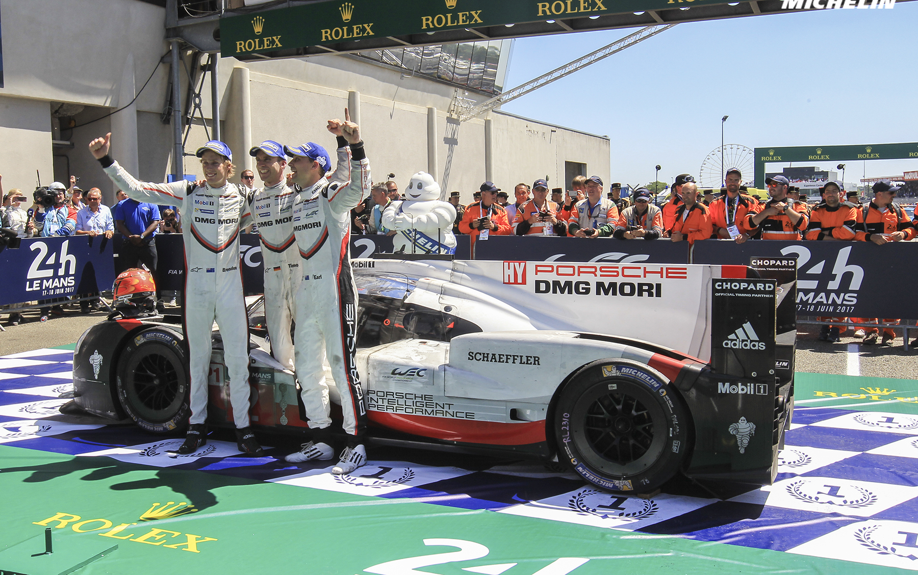 Porsche LMP Team hands Michelin its 20th straight Le Mans win!