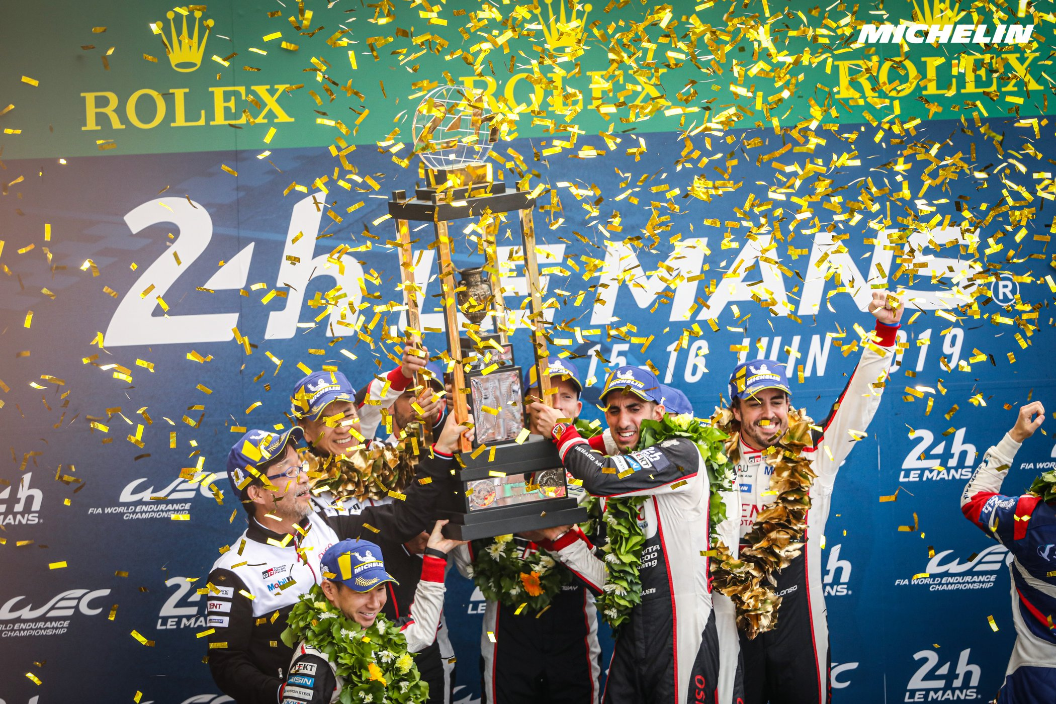 A second straight 1-2 finish for Toyota/Michelin at Le Mans